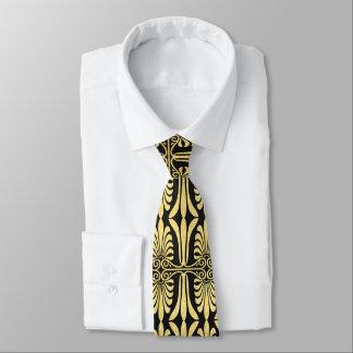 Gravata Traje de cerimónia bonito do ouro da decoração da