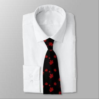 Gravata Traje de cerimónia vermelho da folha de bordo da