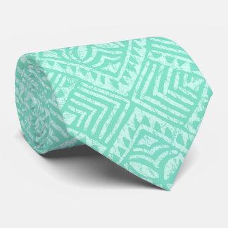 Gravata Verde tropical da hortelã do Tapa samoano