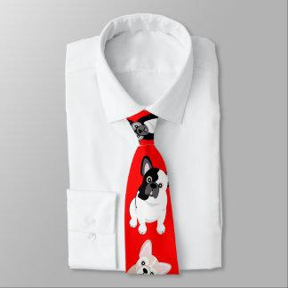 Gravata Vermelho do Natal dos Frenchies dos buldogues
