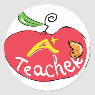 great teacher apple sticker