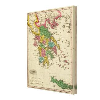 Grecia Antiqua Impressão De Canvas Envolvidas