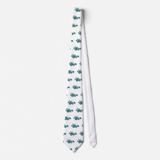 Green backhoe, cute, minimalist, flat design gravata