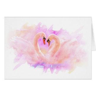 Greeting Card Swans em Love Cartão Comemorativo