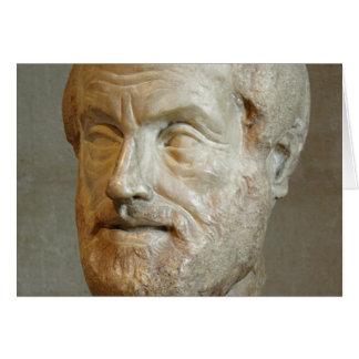 grelha dos aristoteles cartão comemorativo