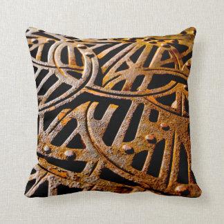 Grelha oxidada travesseiros de decoração