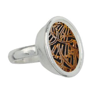 Grelha oxidada anéis com fotos