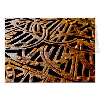 Grelha oxidada cartao