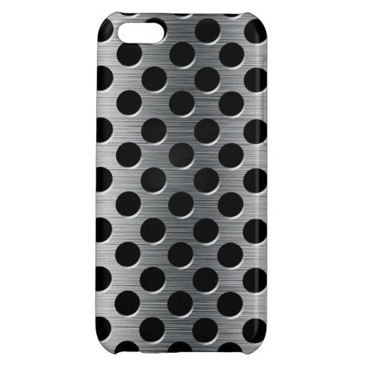 Grelha perfurada do metal capa iphone5C