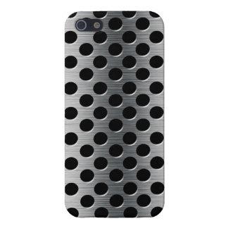 Grelha perfurada do metal capa iPhone 5