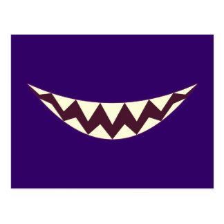 Grin Cheshire riso debochado Grinsekatze cat Cartão Postal
