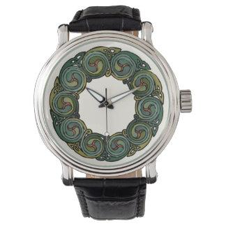Grinalda celta relógio de pulso