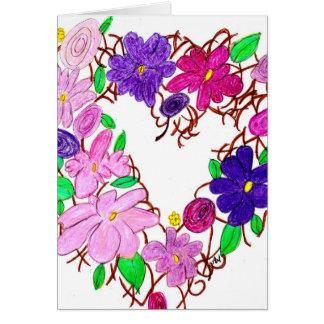 grinalda da flor cartão comemorativo