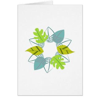 Grinalda da folha cartão