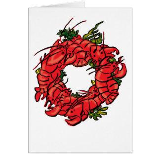 grinalda da lagosta cartão comemorativo