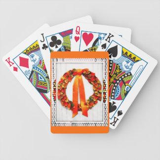 Grinalda da queda baralho de cartas