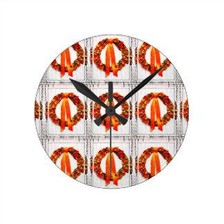Grinalda da queda relógios para paredes