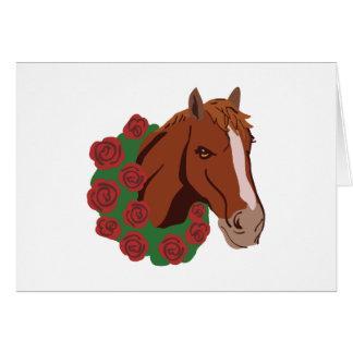 Grinalda do cavalo cartão comemorativo