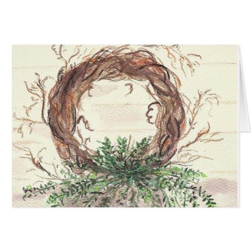 Grinalda do eucalipto cartão