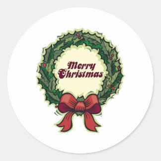 Grinalda do Feliz Natal Adesivo