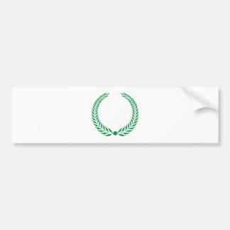 Grinalda do louro - verde adesivo para carro