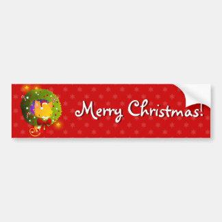 Grinalda do Natal Adesivo Para Carro