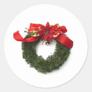 Grinalda do Natal Adesivo Em Formato Redondo