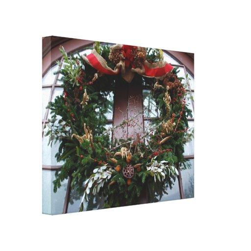 Grinalda do Natal Impressão De Canvas Envolvidas