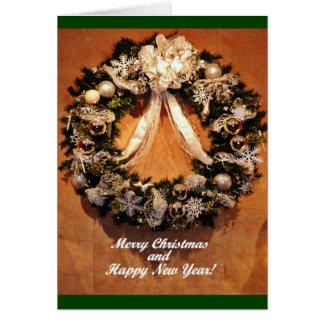 Grinalda do Natal Cartão Comemorativo
