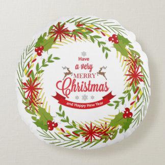 Grinalda do Natal com visco Almofada Redonda