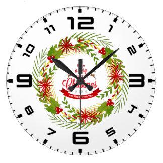 Grinalda do Natal com visco Relógio Grande