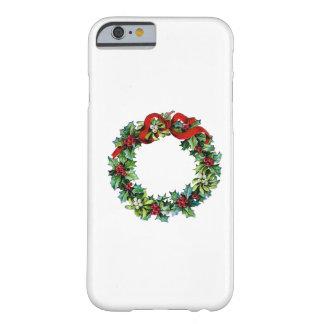 Grinalda do Natal do azevinho e do visco Capa iPhone 6 Barely There