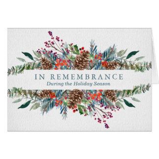 Grinalda do Natal do cartão   da relembrança do