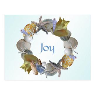 Grinalda do Natal do cartão do costume dos Cartão Postal