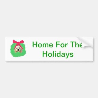 Grinalda do Natal do feriado de cocker spaniel Adesivo Para Carro