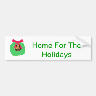 Grinalda do Natal do feriado do Collie Adesivo Para Carro