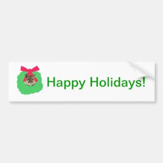 Grinalda do Natal do feriado do leão de montanha Adesivo Para Carro