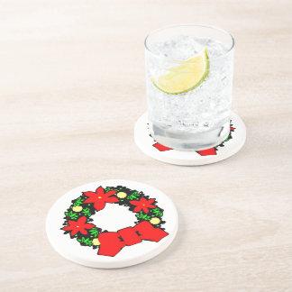 Grinalda do Natal Porta-copos De Arenito