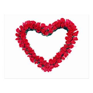 Grinalda do rosa do coração cartão postal