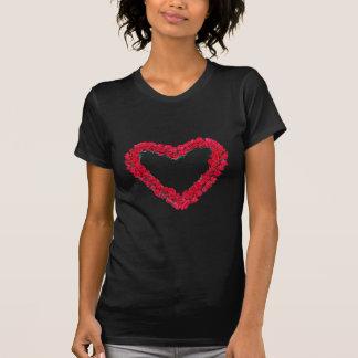Grinalda do rosa do coração camisetas