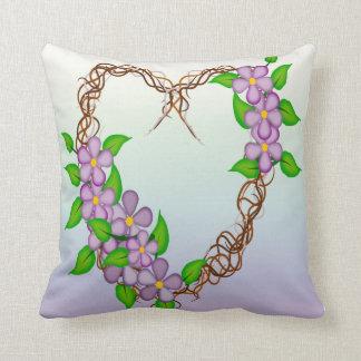 Grinalda floral almofada