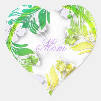 Grinalda floral adesivo coração