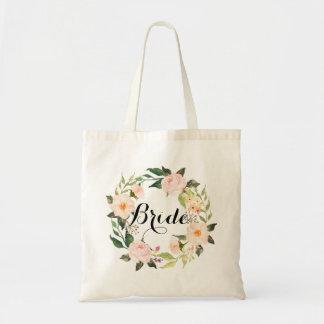 Grinalda floral chique Bride-2 Bolsa Tote