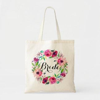 Grinalda floral chique Bride-5 Bolsa Tote