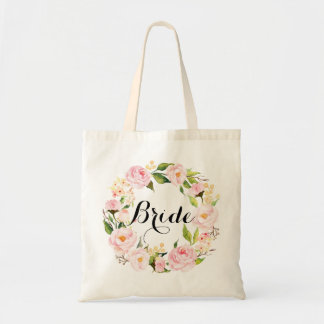 Grinalda floral chique Bride-6 Bolsa Tote