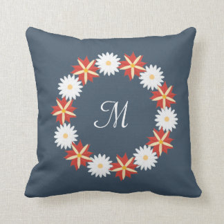 Grinalda floral elegante - monograma almofada
