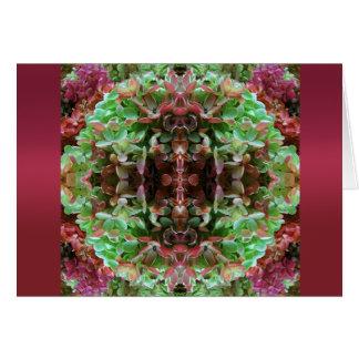 Grinalda florido cartão