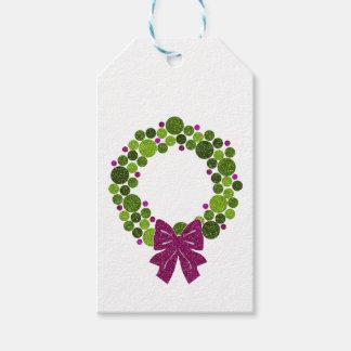 Grinalda Glittery do verde e do rosa dos ornamento