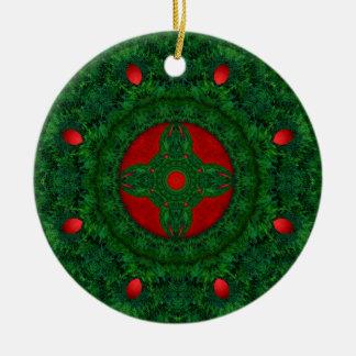 Grinalda Ornamento De Cerâmica Redondo