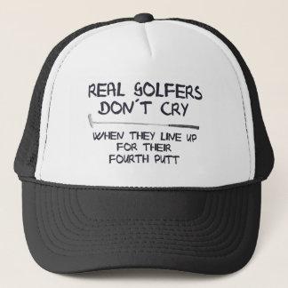 Grito real do don´t dos jogadores de golfe boné